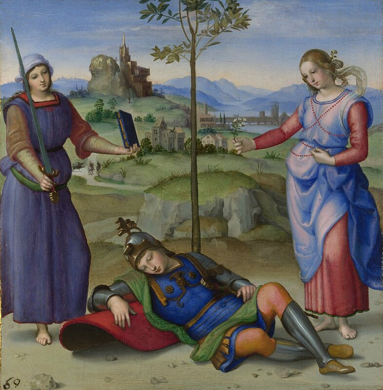 Raphael, 'An Allegory ('Vision of a Knight')', about 1504