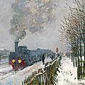 Monet, le train dans la neige