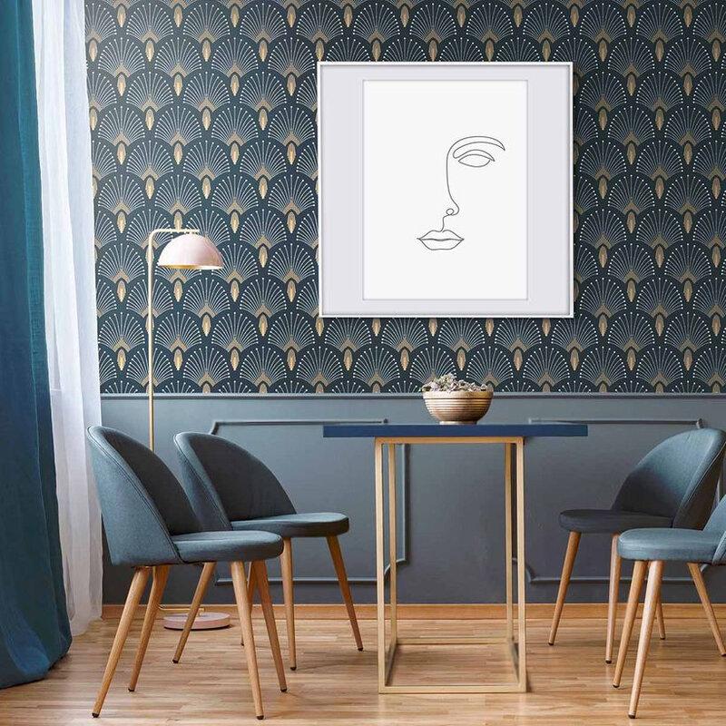 papier-peint-intisse-en-rouleau-1925-bleu-fonce-dore-papermint-10m