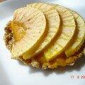 Tartelette aux Pomme sur Pâte de Sablés