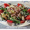 Salade aux jeunes pousses d'épinards