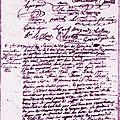 Le 6 septembre 1789 à bonnétable : taxe des grains.