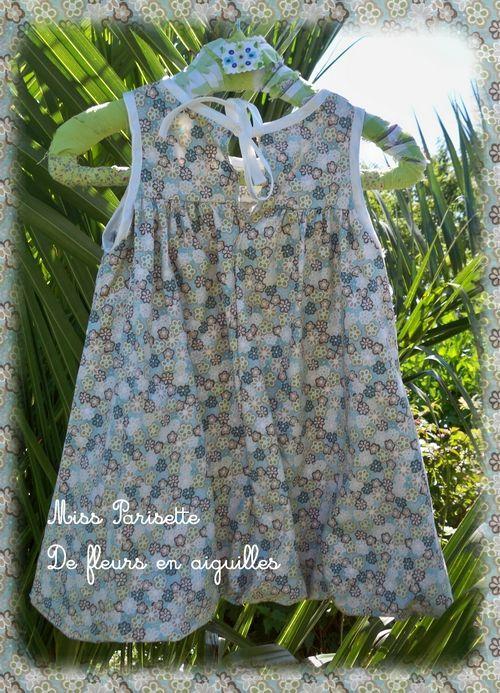robe ballon de fleurs en aiguilles