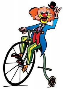 image clown vélo carnaval
