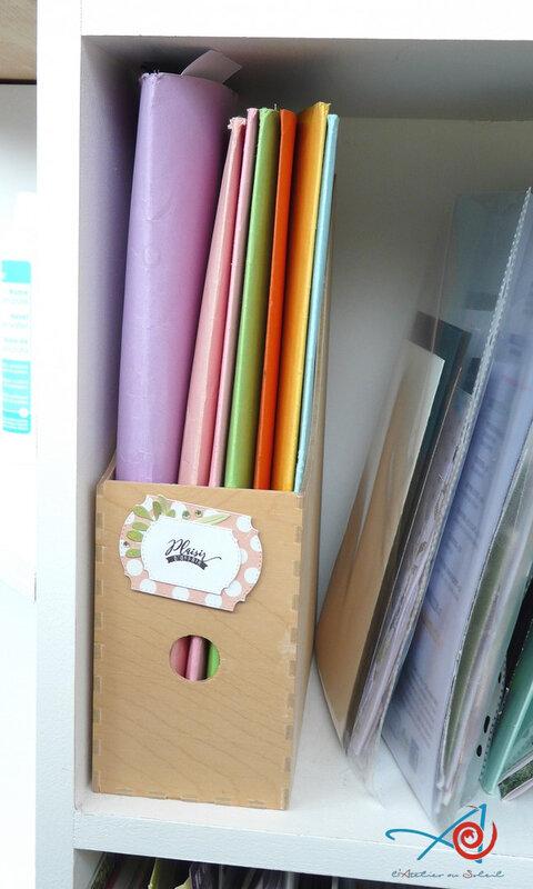 Boîte rangement chutes papier L'Atelier au soleil