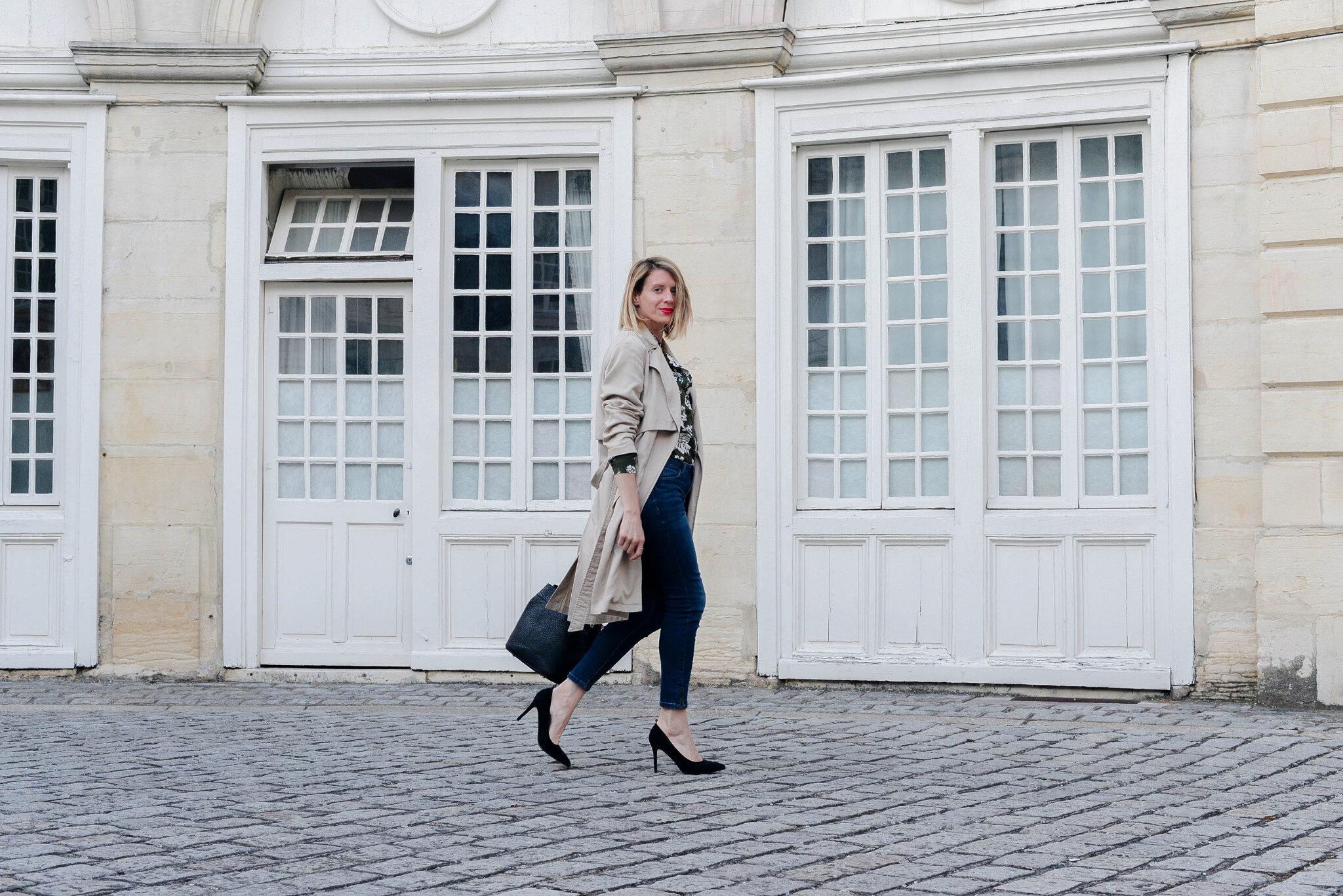 Look look look # La chemise verte à imprimé fleuri
