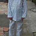 Pyjama étoilé taille 10-12 ans