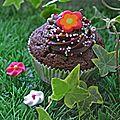 Cupcakes choco-framboise et philadelphia milka