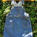 3 - Robe salopette jean Zara - 97 cm - très grand 3 ans ** 5 €**