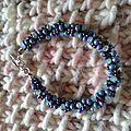 Bracelet kumihimo et perles