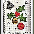 Échange ATC (Décembre) Chez Miou (Boules de Noël) Marie de Clessé pour Jeanine 1