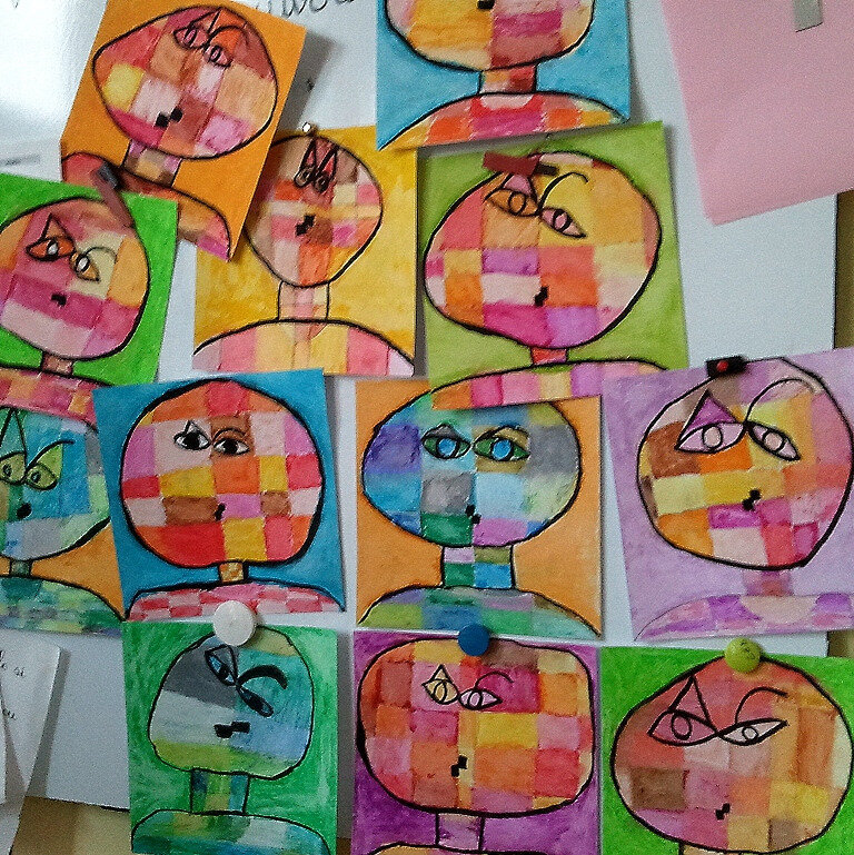 5-Chaud Froid-Portraits inspiration Paul Klee (56)