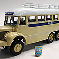 Berliet gbc 8m 6x6 bus saharien.ixo pour hachette. collection berliet. #28. 1/43.