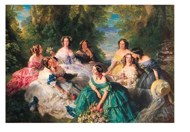 Madame de Malaret dans l'Impératrice Eugénie et les dames de sa cour.