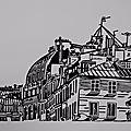 Toits de Paris - Linogravure