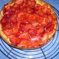 Tarte aux fraises cajoline