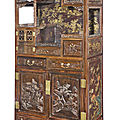 A magnificent gilt-lacquered zitan-veneered display cabinet, qing dynasty