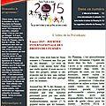 Newsletter n°13 - mars 2015