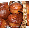 Muffins moelleux coeur chocolat banane ( thermomix ou pas )