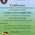 Bains dérivatifs : conférence de france guillain