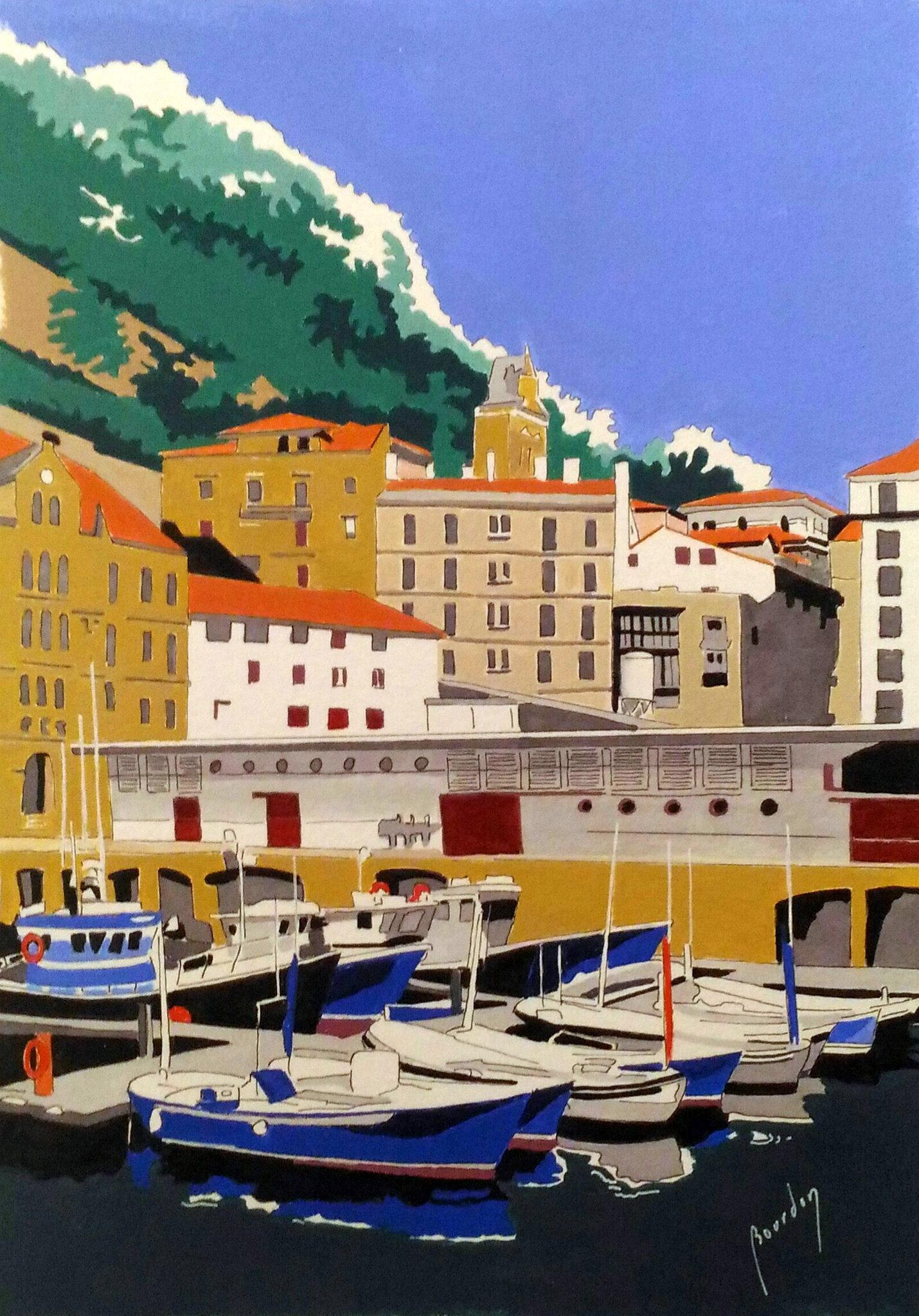 36 Donostia , la darse des pêcheurs