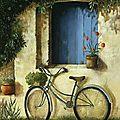 La vieille dame sur son vélo