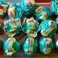Rainbow cakes citron