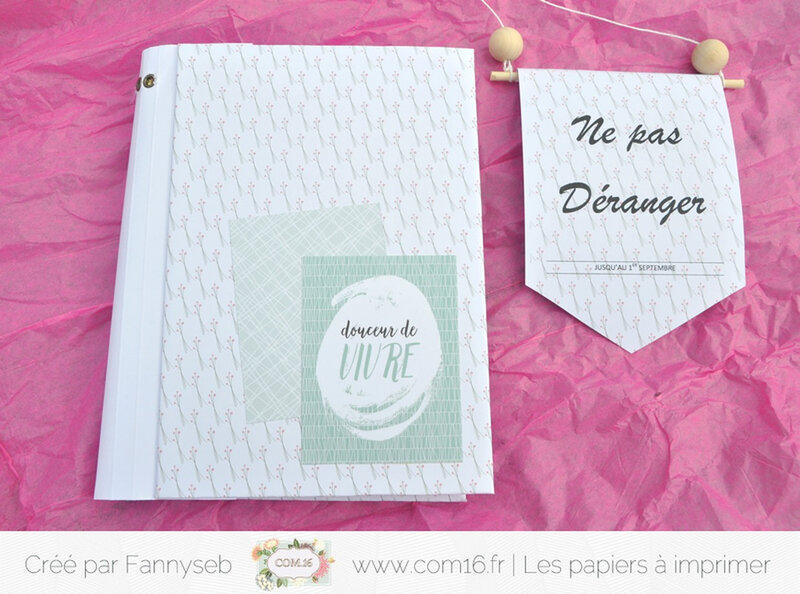 ensemble cadeau fannyseb 1 collection June Papiers COM16