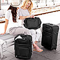 Set de 4 valises trolley textile