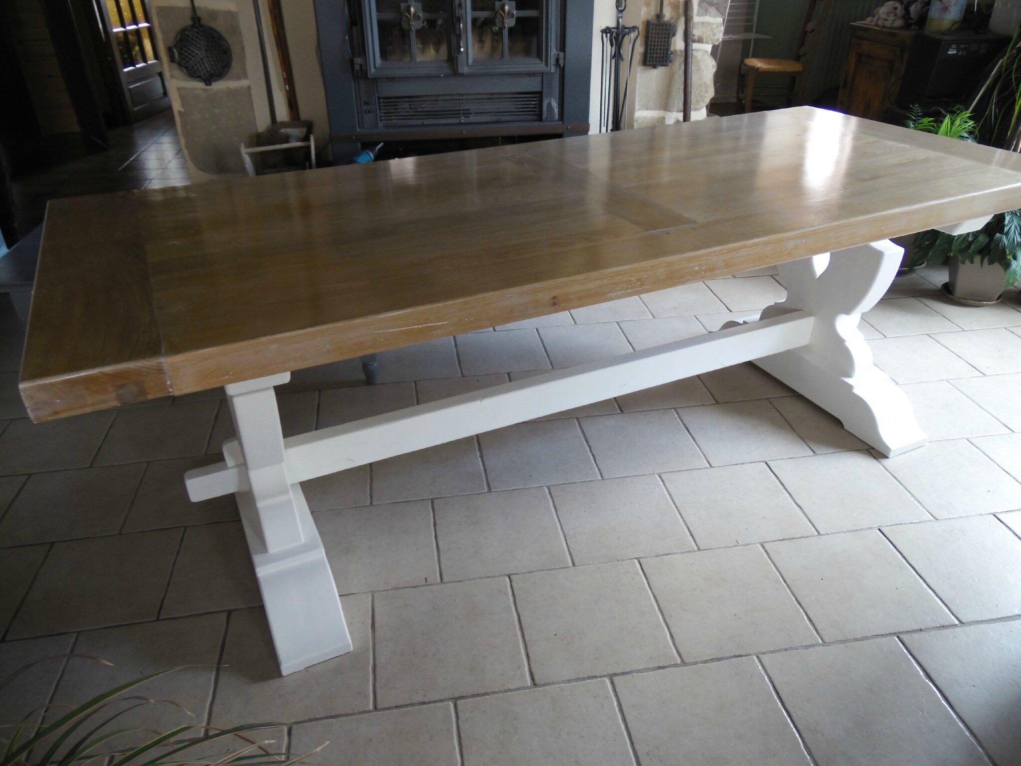 Ancienne Table De Ferme La Déco De Gégé