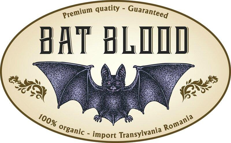 label bat blood Halloween 03