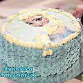 Gâteau Reine des Neiges côté