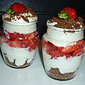 Verrines fraise spéculos