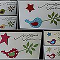 Un zozio ... une étoile ... une série de mini-cartes de voeux !