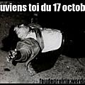 17 octobre 1961, le sang des algériens coule à paris. il est le sang de la liberté révolutionnaire.