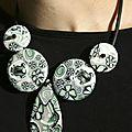collier composé buna fleurs vertes V3