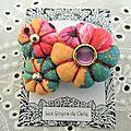 ♥ anavai ♥ broche textile bohème hippie chic fleurs potirons - les yoyos de calie