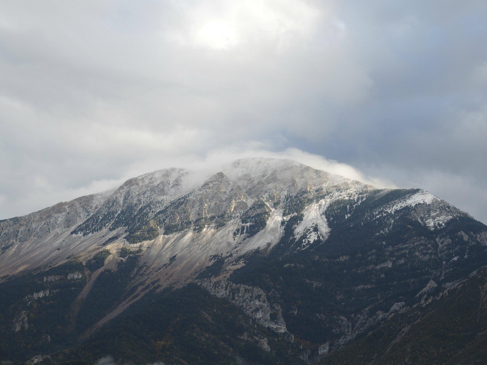 Tozal de Guara, sous la neige