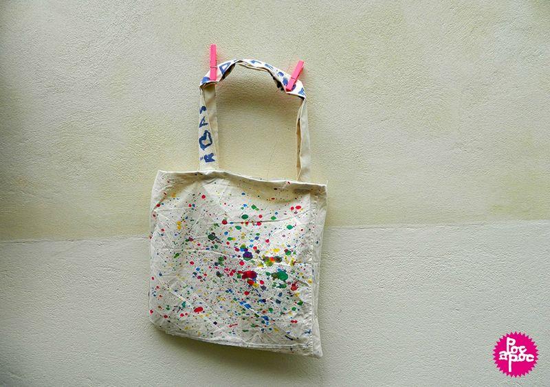 sac en tissu, tote bag,poc a poc,centre de loisirs,enfant,peinture textile,couture,activite enfant,DIY,tutorial,3 blog