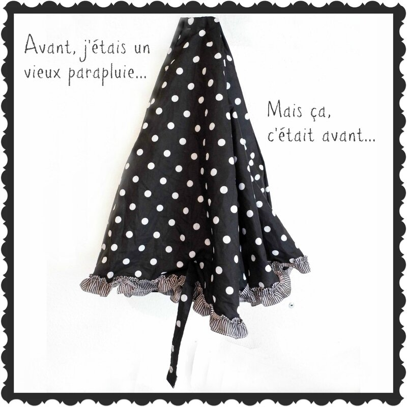 Housse parapluie Jupe récupe jean Sept 2014