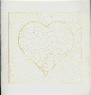 Carte St Valentin crème