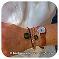Plaqué or sautoir bracelet médaille boules aplaties