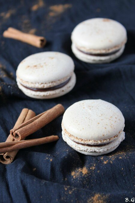 Macarons chocolat cannelle- bouilles gourmandes