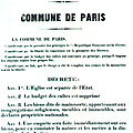 La Commune de Paris en 1870