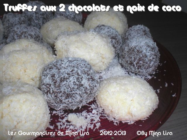 truffes aux 2 chocolats et noix de coco2