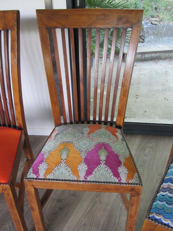 changer le tissu de chaise de salle à manger