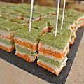 Carrés carottes brocolis surimi
