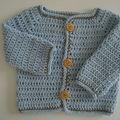 Au crochet: turoriel gilet bébé 1-3 mois top down