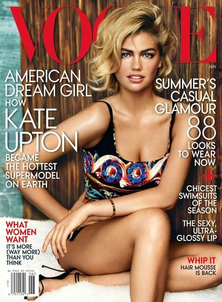 Kate Upton for US Vogue June 2013 by Mario Testino www