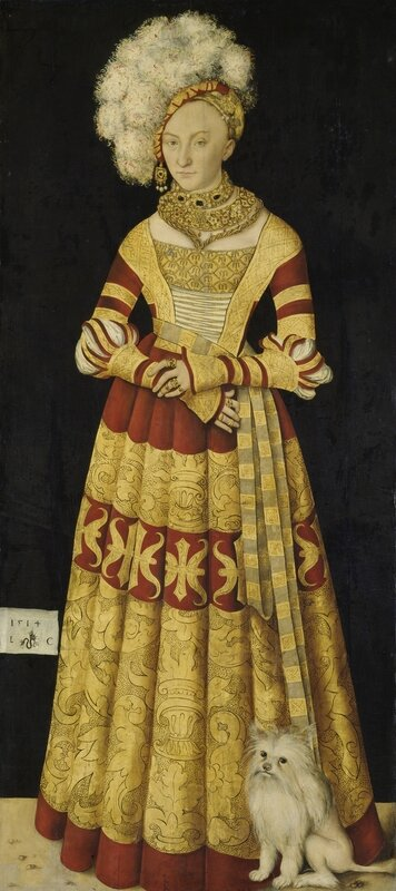Dresden, Alte Meister_Lucas Cranach the Elder, Catherine of Mecklenburg